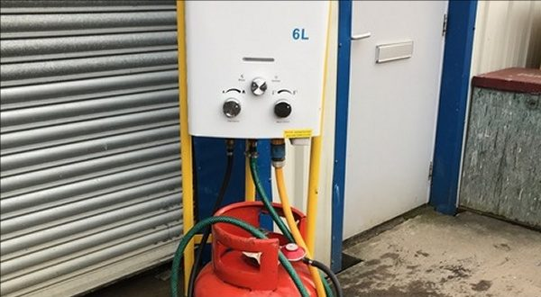 Mobile LPG Hot Water System