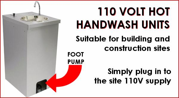 110V Mobile Hot Handwash Sink