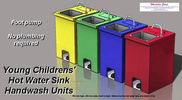 Childrens Handwash Hot Water Mobile Sinks