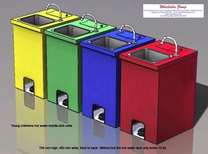 Childrens' Hot Water Handwash Mobile Sinks